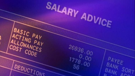 Wages pay packet salary advice slip