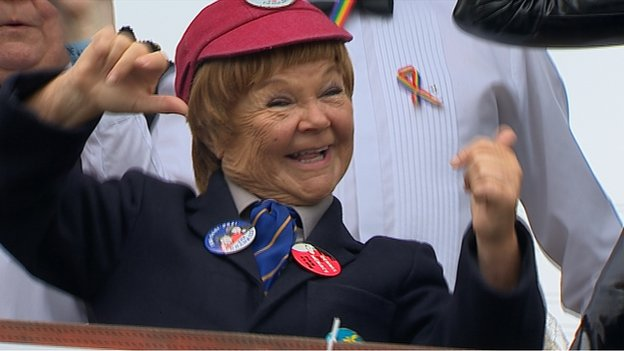 Wee Jimmy Krankie was one of those taking part in the parade