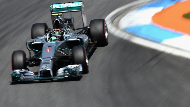 Mercedes' Nico Rosberg in German Grand Prix qualifying