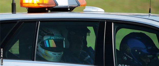 Lewis Hamilton crashed during the German Grand prix