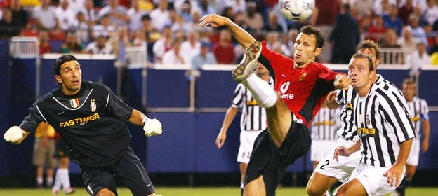 Manchester United V Juventus in a pre-season friendly in 2003 at the Giants Stadium, New York