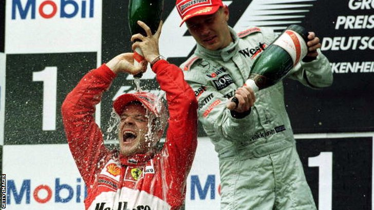 Rubens Barrichello wins the 2000 German Grand Prix
