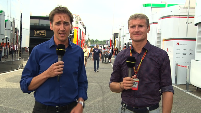 BBC Sport's Tom Clarkson and David Coulthard