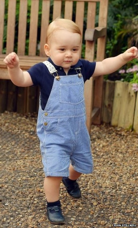 Prince George picture released to mark first birthday