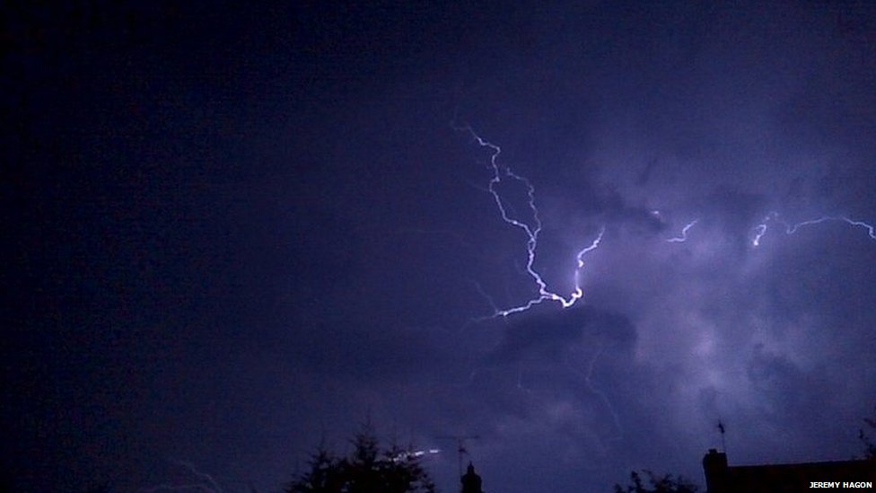 Lightning at in Great Baddow, Chelmsford