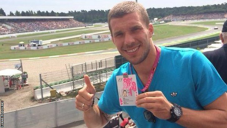 World Cup winner Lukas Podolski at Hockenheim