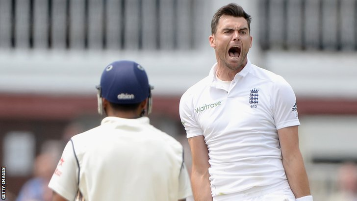 England's James Anderson