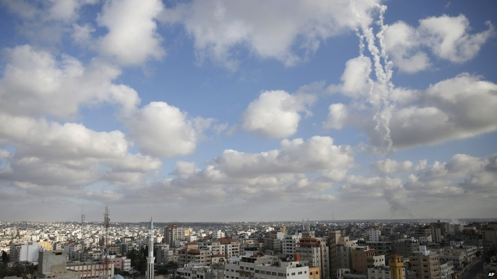 Rockets fired from Gaza at Israel