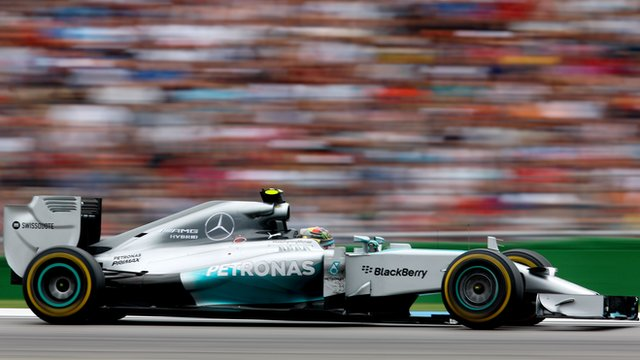 Mercedes' Nico Rosberg wins in Germany