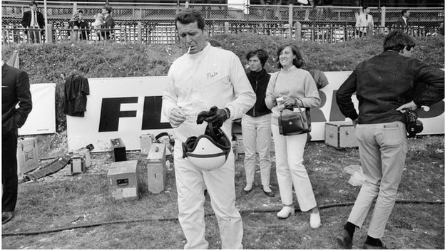 James Garner filming Grand Prix