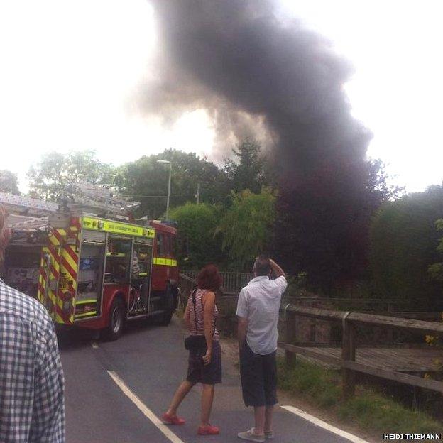 Fire in Woodbury. Pic: Heidi Thiemann