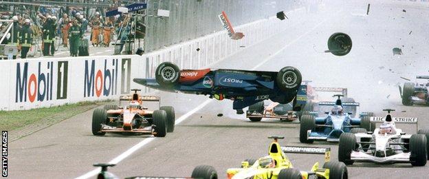 Lucianco Burti, 2001, German Grand Prix