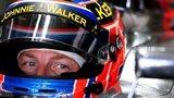 Jenson Button in his car at the German Grand Prix.