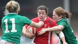 Wales' Elen Evans on the attack against Ireland in the Women's 2013 Six Nations