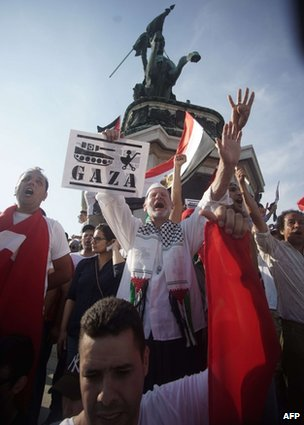 A pro-Palestinian rally in Vienna, Austria, 20 July