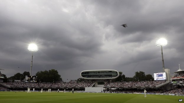 Dark clouds over Lord's cricket ground