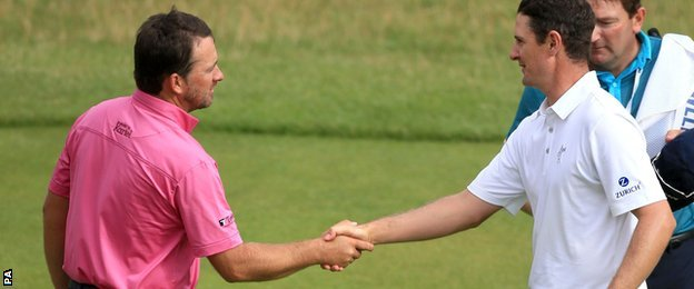 Graeme McDowell and Justin Rose