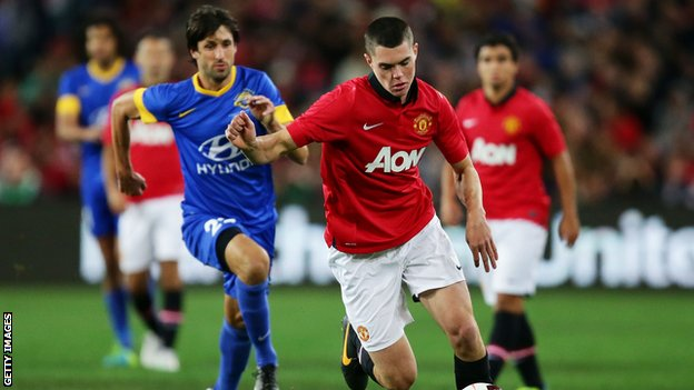 Michael Keane in action for Manchester Untied
