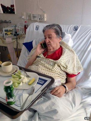 Rosa del Carmen Verduzco in hospital, 20 July 2014
