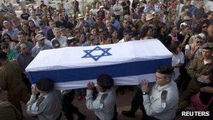 Funeral of IDF soldier Amotz Greenberg