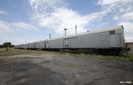 The train being used to transport 196 MH17 victims