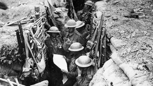 The Durham Light Infantry in the trenches