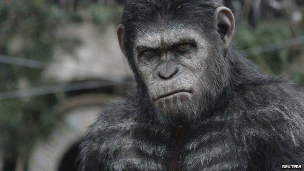 Actor Andy Serkis as ape Caesar
