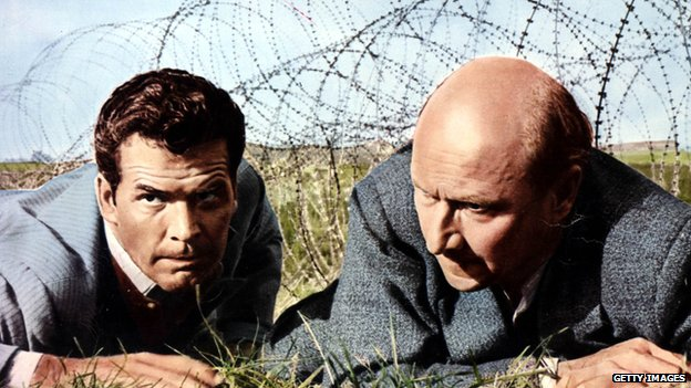James Garner and Donald Pleasance in The Great Escape in 1963