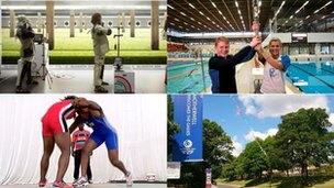 Barry Buddon shooting, Baton at Royal Commonwealth Pool, Cameroon wrestlers, Strathclyde Park