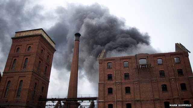 Bass Maltings fire in Spalding