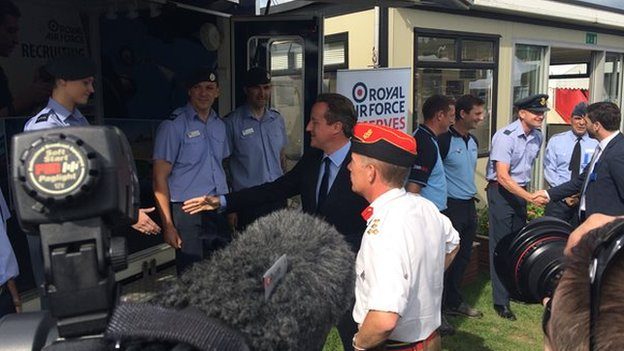 David Cameron at Royal Welsh Show