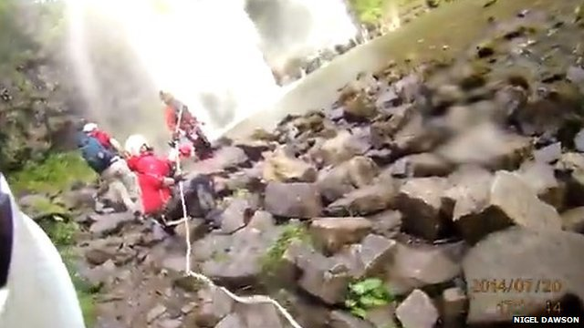 Winch rescue in Brecon Beacons