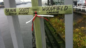 Cross for Canadian Braun Scott Woodfield