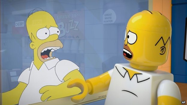 Homer Simpson in episode 550 of The Simpsons
