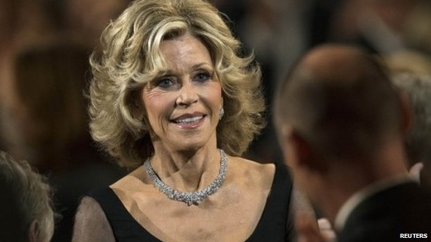 Jane Fonda at an award ceremony in 2014
