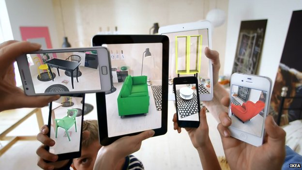 Cameras show Ikea's augmented reality at work