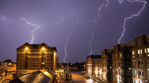 Lightning in Gloucester