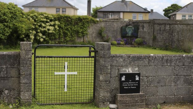 The bodies of hundreds of children were buried in the grounds of the Bons Secours home for unmarried mothers in Tuam, County Galway