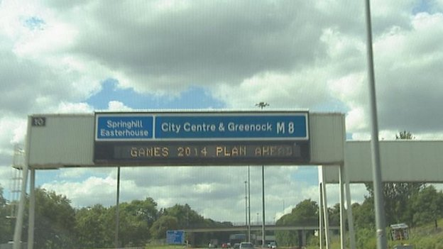 Motorway sign
