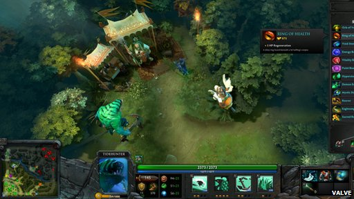 Screengrab from Dota2