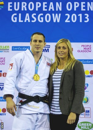 Euan Burton and wife Gemma Gibbons, who will compete for England at Glasgow 2014