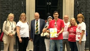 Manston delegation at No 10