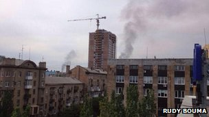 Smoke in Donetsk