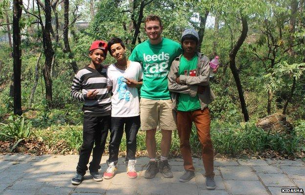 Richard Mayne helping the Kidasha charity in Nepal