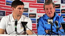 Steven Gerrard and Roy Hodgson