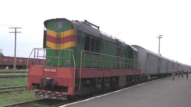 Train transporting MH17 bodies
