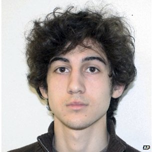 Dzhokhar Tsarnaev seen on 19 April 2013