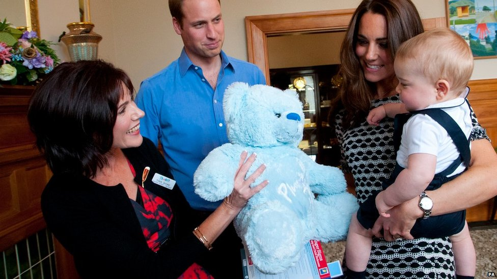 Prince George given gift