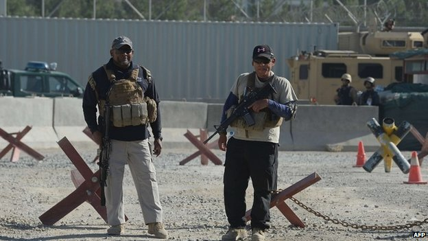 Two security  guards at site of Kabul airport attack