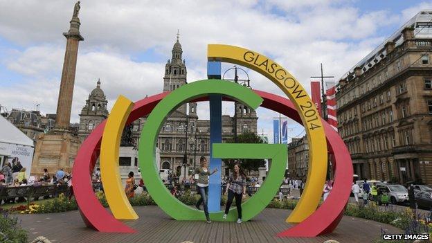 Glasgow 2014 sign